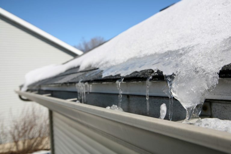ice on home's roof