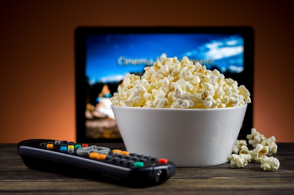 movies ad popcorn at home