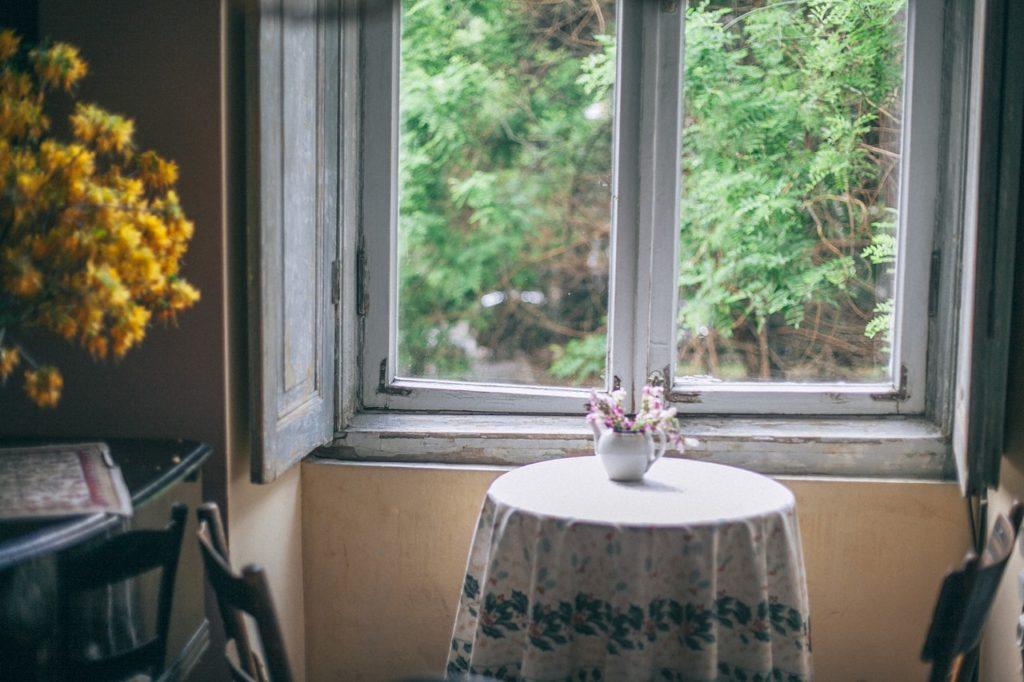 table near a window