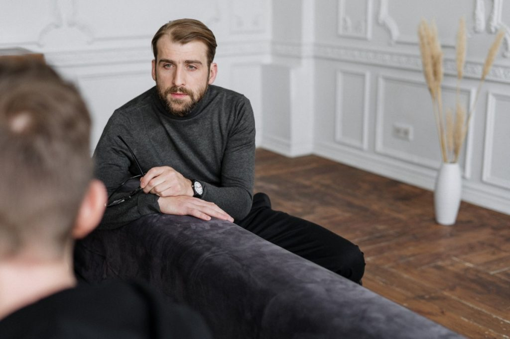therapist and a client